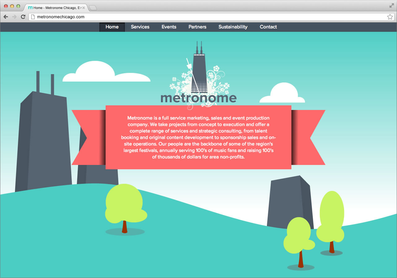 Metronome Website Homepage